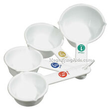 Big Number Measuring Cups - Easy to see, Large Print Numbers, Low Vision, New