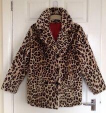 Vintage Retro 50's/60's Katmandu Lister Faux Leopard Fur jacket/Coat, Size 12/14