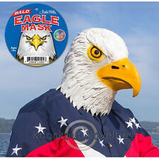 Bald Eagle Mask Halloween Costume Animal Head Realistic Latex Adult Size Bird
