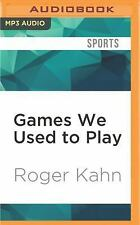 Games We Used to Play by Roger Kahn (2016, MP3 CD, Unabridged) (FREE 2DAY SHIP)