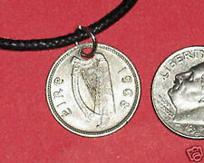 AUTHENTIC IRISH IRELAND CELTIC HARP/ RABBIT PENDANT COIN NECKLACE