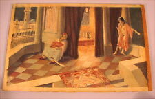 Altes Aquarell Harem Orient Arab Watercolour Otoman