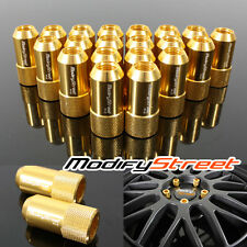 20 PIECES GOLD M12 X 1.25MM THREAD JDM RACING WHEEL LUG NUTS OPEN END RIM TUNER