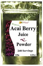 Organic ACAI Berry JUICE Bulk POWDER Pure Perfect Burn 240 Cups Kosher GMO Free