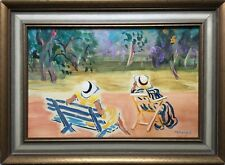 Hungarian Vaszary Janos signed old oil,cardboard painting 46x62 cm! $1!