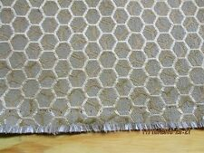 """KNOLL UPHOLSTERY FABRIC A HONEYCOMB PATTERN IN GOLD """"QUARK"""" COLOR AFTERGLOW"""