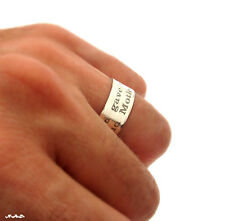 Custom Engraved Ring - Sterling Silver Personalized Band - Unisex Quote Ring