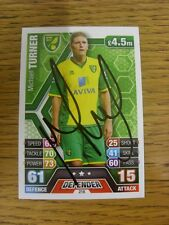 2013/2014 Autograph: Norwich City - Turner, Michael [Hand Signed 'Topps Match At