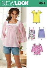 NEW LOOK SEWING PATTERN MISSES'  PULLOVER TOP 2 LENGTH  SIZE 8 - 22  6284