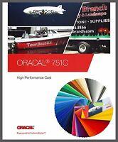 Oracal 751C Plotterfolie 63x500cm Premium Gegossen Cast Folie Orafol 118 Farben