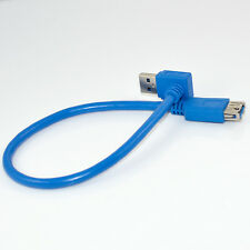 30cm USB 3.0 A Male 90 Degree Down Angle to A Female Plug Extension Cable Newest