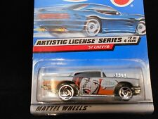 HW HOT WHEELS 1998 ARTISTIC LICENSE SERIES #2 '57 CHEVY HOT ROD HOTWHEELS SILVER