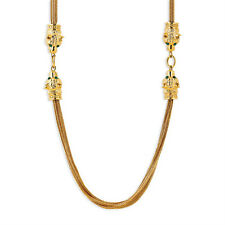 "New Gold-Plated Jackie Kennedy Lion Head Long Chain Necklace 36"" Camrose & Kross"