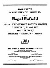 1953-1960 Royal Enfield Ensign & Prince workshop manual