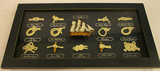 Nautical Maritime Sea Knots Mayflower Ship Nice Wood Display Shadow Box Framed
