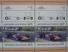 1968 LOTUS FORD 49-B F1 GP Car 50-Stamp Sheet / Auto 100 Leaders of the World