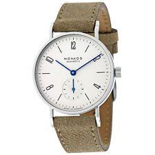 Nomos Tangente 33 Galvanized White Silver-Plated Dial Ladies Watch 123