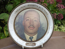 VINTAGE METAL PLATE REVEREND MARTIN LUTHER KING I HAVE A DREAM 1964 NOBEL PRIZE