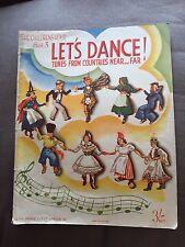 """1937 """"consente di danza... melodie da paesi VICINO & LONTANO"""" BOOK 3 Spartito Songbook"""