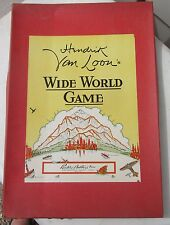 Hendrick Van Loon's Wide World Game 1933 Parker Brother Board Game