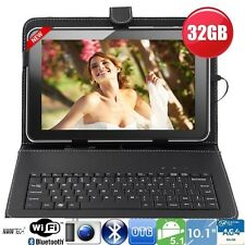 "32GB 10""Inch A64 Quad Core Android Tablet Pc + Keyboard Bundle Google Play Hdmi"