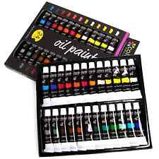 Oil Paint 24 Set Kit Colors for all Art Paintings Artists Non Toxic Perfect Gift