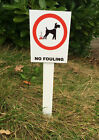Dog 'No Fouling Sign Mounted Onto 3mm Board With Stake