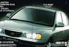 Publicité advertising 2001 (2 pages) Hyundai Elantra