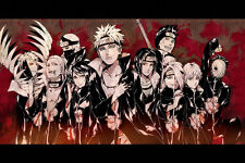 Poster Silk Naruto  Sasuke Kakashi Japan Anime  Room Wall Cloth  20X13 Print 46