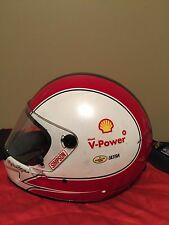 Helio Castroneves Penske 3 Shell Rare Indy Race Used Worn Pit Crew Helmet