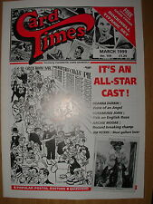 CARD TIMES MAGAZINE FORMERLY CIGARETTE CARD MONTHLY No 109 MARCH 1999