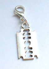 Tibetan Silver Razor Blade Clip On Charms Pendant Free Gift Bag New