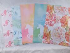 100 Set Designer Peacock Flamingo Unicorn Mailers Poly Shipping Envelopes Bags