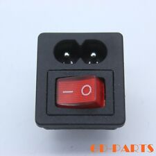 Generic C8 AC Power cord inlet Power socket receptacle with Rocker switch 250Vx1