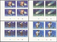 St Vincent 1986 Halley's Comet/Space/Astronomy/Telescope IMPERF 4v c/b (n15736a)