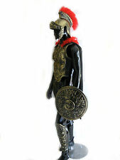 Roman Greek Soldier Army Helmet Chest Armor Shield Leg Adult Halloween Costume