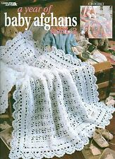 USED A YEAR OF BABY AFGHANS BOOK 3 CROCHET PATTERN BOOK
