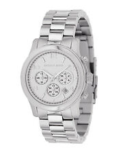 Michael Kors Women's MK5076 Runway Chrongraph Silver Dial Stainless Steel Watch
