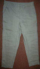 NEW Sz 10 Linen Rich Biscuit Stretch straight Trousers Shorts Holiday Summer