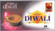 2016, Diwali, Digital Color Postmark, First Day Cover, New York NY, 16-266