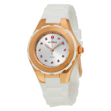 BRAND NEW MICHELE MWW12P000003 TAHITIAN WHITE JELLY BEAN ROSE GOLD WOMEN'S WATCH