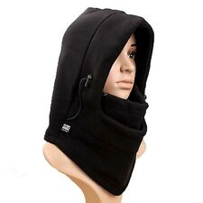 Fleece Thermal Balaclava Winter Outdoor Face Neck Warmer Hood Scarf Mask Hat S