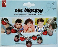 ONE DIRECTION 1D OFFICIAL MERCHANDISE CHARM BRACELET HEART INDIVIDUAL SHOTS