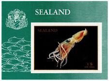 (I.B) Cinderella Collection : Sealand Mini-Sheet $1 (Cuttlefish)