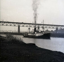 """British Freighter """"Gardenia"""" - Vintage B&W Ship Negative"""