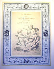 Bassoon Music-Devienne-24 Duets for Two Bassoons