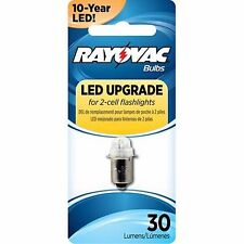 1 - Rayovac LED Upgrade Bulb for 2-Cell Flashlights 3VLED-1T -30 Lumens