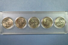U.S.  2000P  WASHINGTON-STATE COMMEMORATIVE QUARTERS, 5-COIN Set in Display Case