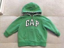 Baby Gap Boy Green Hoodie Sweatshirt Size 12-18 Month Warm Soft