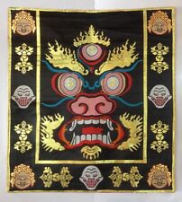 Tibetan Silk Brocade Mahakala Design Altar Cloth / Table /Shrine Cover/placemats